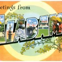 Alabama Large Letter Postcard Greetings by ArtLoversOnline