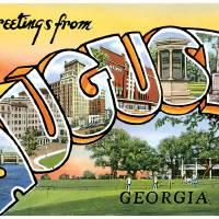Augusta GA Large Letter Postcard Greetings by ArtLoversOnline