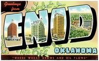 Enid OK Large Letter Postcard Greetings