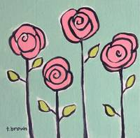 four long stem pinkies. by tracie brown