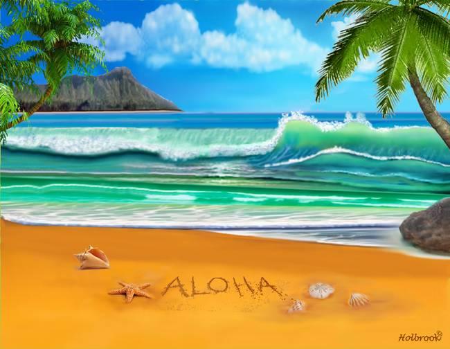 Открытка гавайская, спасибо