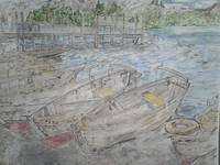 Boats by the Shore 2 Color