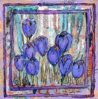 floral art | spring | Spikes of Crocus | purple