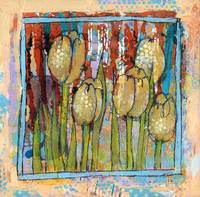 tulip art | floral art | Watching Tulips | spring