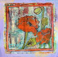 poppy art | red orange poppies | Springs Trumpet