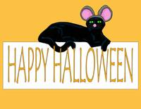 halloween cat w mouse ears