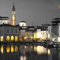 Piran Moonlight Art Prints & Posters by Rae Tucker