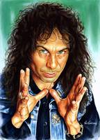 Ronnie Jame Dio painting portrait