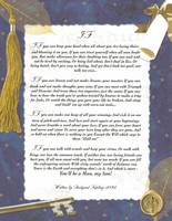 Large Key To The Future IF by Rudyard Kipling