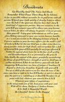 11x17 embossed antique desiderata