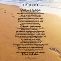 """desiderata on footprints 11x14 jpeg"" by DesiderataGallery"