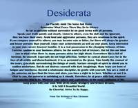 desiderata on blue moon 11x14