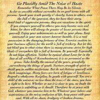 """desiderata on fossil"" by DesiderataGallery"