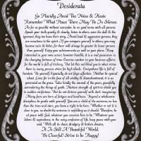 """HL chalk board desiderata"" by DesiderataGallery"