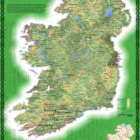 """Geo-genealogy of Irish Surnames"" by cartonerd"