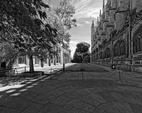 King's Exterior 13 B&W by Priscilla Turner