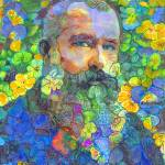 Papa Bear, Monet in The Flower Garden by RD Riccoboni