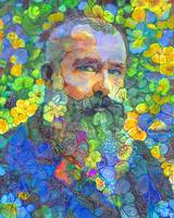 Papa Bear, Monet in The Flower Garden