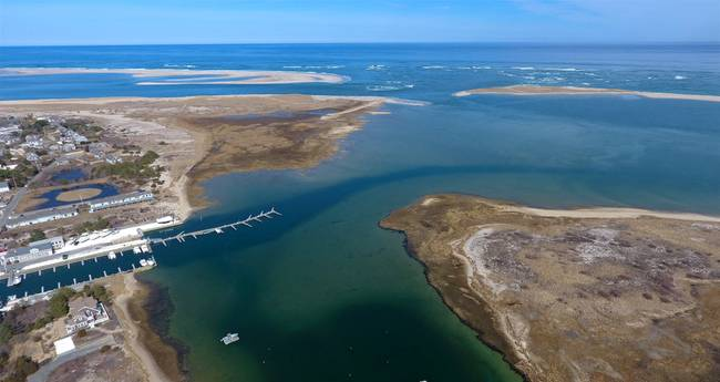 New Break at Chatham, Cape Cod Aerial