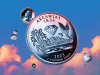 Arkansas State Quarter - Sky Coin 25
