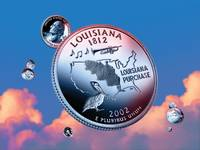 Louisiana State Quarter - Sky Coin 18