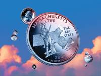 Massachusetts State Quarter - Sky Coin 06