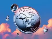 Michigan State Quarter - Sky Coin 26
