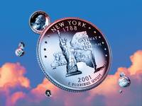 New York State Quarter - Sky Coin 11