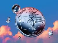 Pennsylvania State Quarter - Sky Coin 02