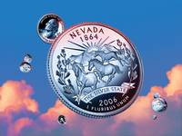 Nevada State Quarter - Sky Coin 36