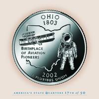 Ohio State Quarter - Portrait Coin 17