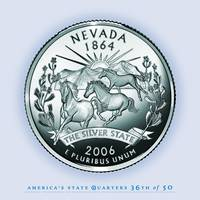 Nevada State Quarter - Portrait Coin 36