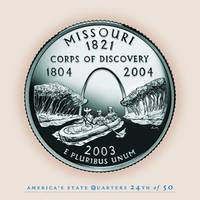 Missouri State Quarter - Portrait Coin 24