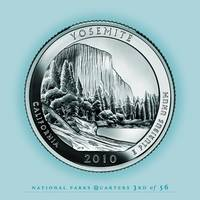 Yosemite, California - Portrait Coin 59
