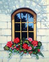 Window With Window Box and Flowers