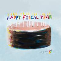 Happy Fiscal Year Cake