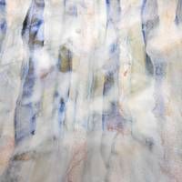 53. v1 Blue and White Stripped Down Abstract Canva