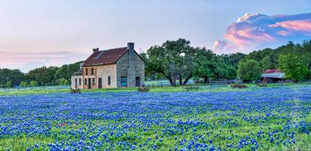 Stormy Skies Over Bluebonnet House