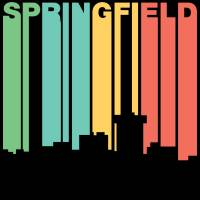 Retro 1970's Style Springfield Missouri Skyline Art Prints & Posters by Kevin G