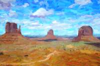 Abstract Arizona Desert Landscape