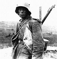 a German soldier at the Battle of the Somme 1916