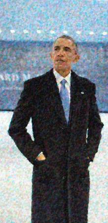 Abstract Portrait of President Barack Obama 10a