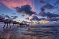 Pink Cloud over the Pier