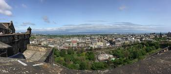Edinburgh Scotland from Castle