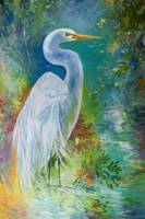 WHITE EGRET LANDSCAPE WATERS