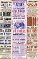Vintage Circus Carnival Poster Adverts