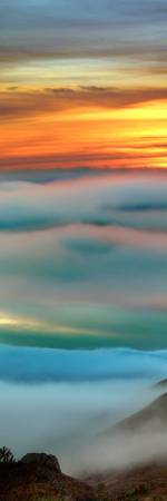 Sunset Fog Over Bodega Bay