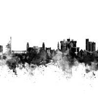 """Fayetteville Arkansas Skyline"" by ModernArtPrints"