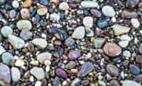 Abstract Nature Tropical Beach Pebbles 871A Blue