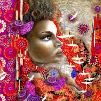 fly away prt Art Prints & Posters by Alma Lee